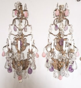 Oversize Pair Of Klun Designed Custom Sconce