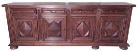 Antique French Oak 4-door Buffet