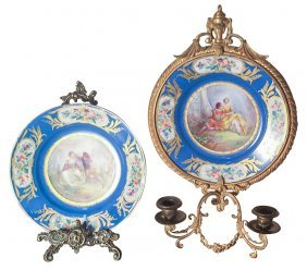 Pair Of French Sevres Porcelain Plates