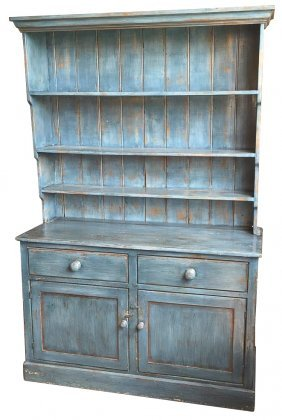 English Painted Pine Hutch