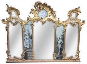 18th C. French Or Italian Giltwood Mirror