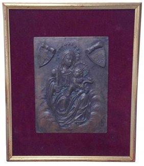 19th C. French Terra Cotta Plaque