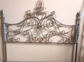 A French Wrought Iron King Size Headboard