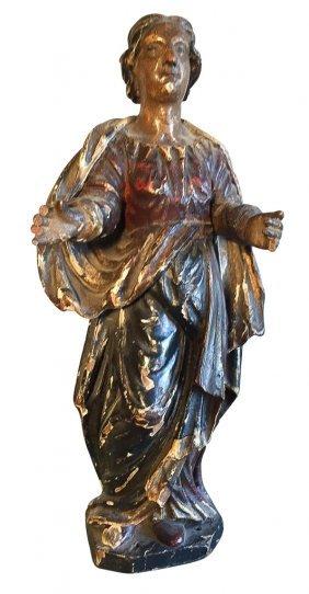 18th C. French Polychrome Saint,