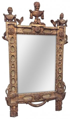 Unusual 18th C. French Mirror,
