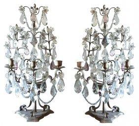 Fine Pair French Bronze Girondoles,
