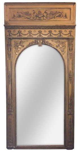 19th C. French Empire Giltwood Mirror