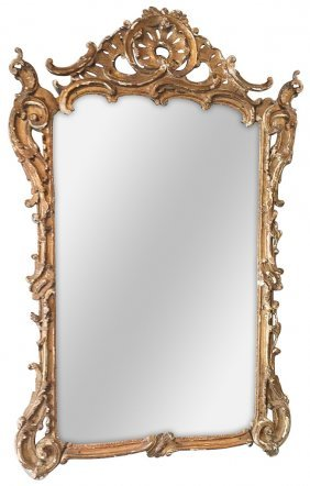 Early 19th C. French Gilt Mirror, Louis Xv
