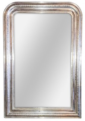 19th C. French Silver Louis Phillipe Mirror