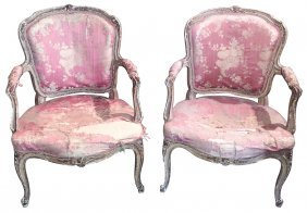 """Rare Pair Of Signed """"lespagnul"""" French Chairs"""