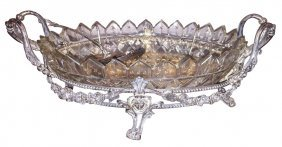 Continental Silver Centerpiece, Finely Chased,