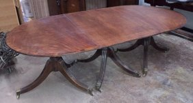 Antique English Regency Dining Table