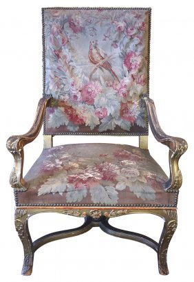 18th C. French Regence Armchair With