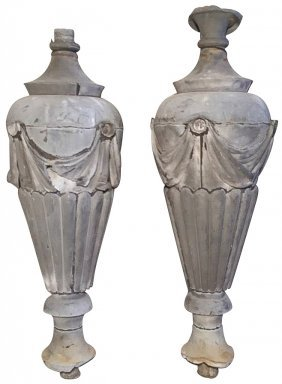 Pair Of French Zinc Architectural Elements