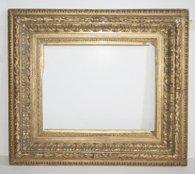European Early 19th C. Hand Carved Cove Frame.