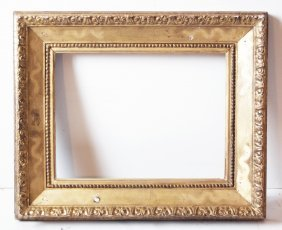 Italian 19th C. Hand Carved Cassetta Frame