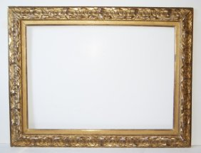 Italian 19th C. Hand Carved And Gilded Ornate Frame