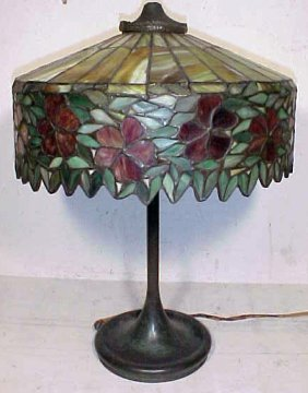 Handel Table Lamp With Leaded Shade