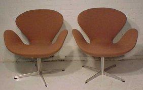 Pair Mid Century Chairs By Fritz Hansen