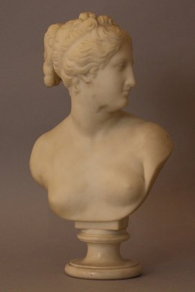 Marble Bust Of The Venus Italica With Draped Hair ,