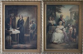 Joseph Haier (1816-1891), A Pair Of Paintings Showing