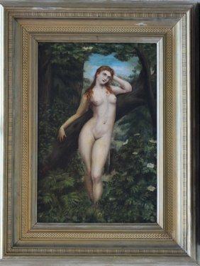 Austrian Artist Late 19th Century, Nude Girl In
