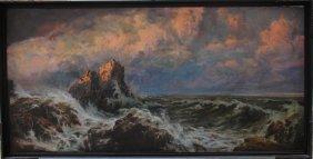 Paul A. Svedomsky (1849-1904)-attributed, Stormy