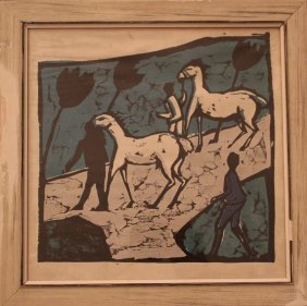 Erich Heckel(1883-1970) Graphic, White Horses , On