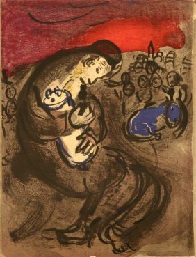 Marc Chagall(1887-1985)-graphic On Paper, Father With