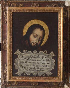 Spanish School 17th Century, Portrait Of Saint