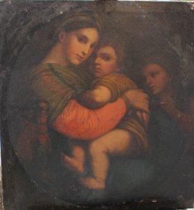 Italian School 18th/19th Century, Madonna Della Sedia,