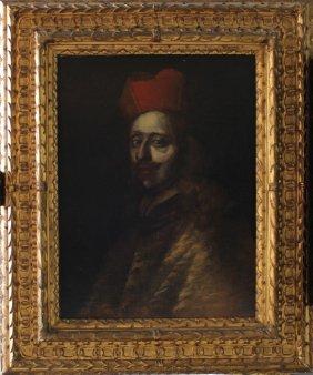 Roman Oder Tuscan School, Portrait Of Cardinal Leopoldo