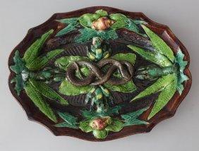 Bernard Palissy (1510-1589)-attributed, Ceramic Dish