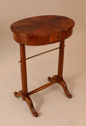 Small Directoire Table In Oval Shape On Two Collumn