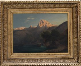Carl Lafite (1830-1900), View Of The Gosausee With