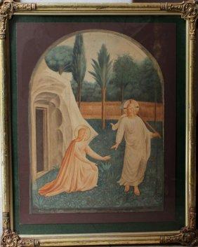 Italian Artist 1st Half 19th Century, Jesus And Maria,