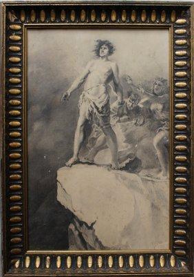 Michael Von Zichy (1827-1906)-attributed, The Decision,