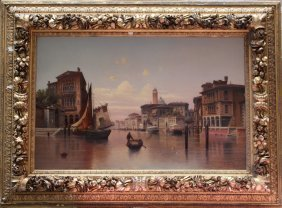 Karl Kaufmann (1843-1905), Large View Of Venice With