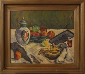 Willi Kohl (1888-1971)-attributed, Still Life With