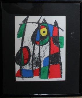 Joan Miro I Ferra (1893-1983), Two Abstract Colour