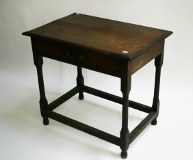 An Oak Side Table, In The 18th Century Style, The