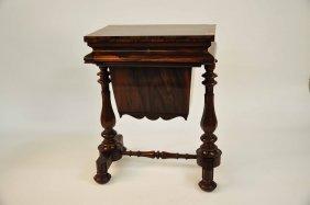 A Rosewood Ladies Work / Games Table, William IV P