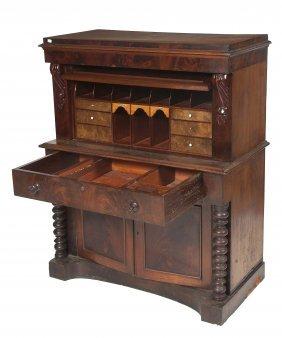 A Mahogany Bureau Cabinet, Early Victorian, The Mo