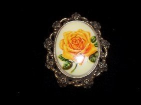 Nice Flower Portrait Brooch