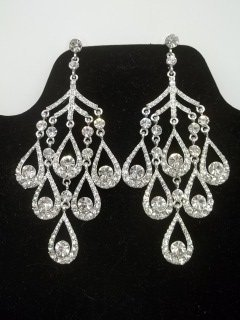 Gorgeous Rhinestone Chandelier Earings