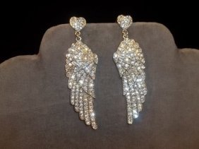 Rhinestone Wings Earrings
