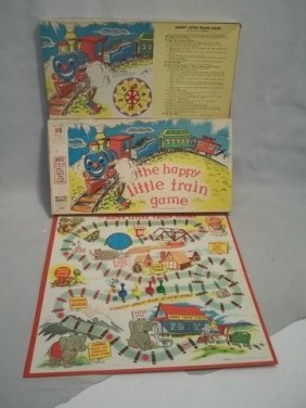 Rare 1957 MB The Happy Little Train Game Complete