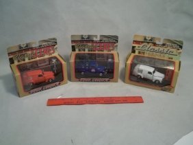 3 Die Cast Trucks MISB Pepsi Sunkist Coast Guard