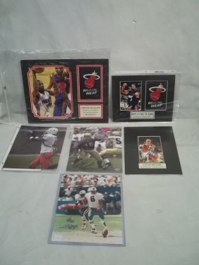Autographed Football, Basketball Photo Lot Henne & M