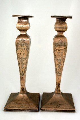 A LARGE PAIR OF STERLING SILVER CANDLESTICKS. Unite